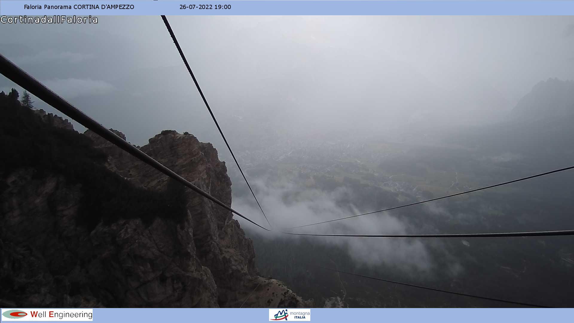Vista dal Rifugio Faloria su Cortina d'Ampezzo