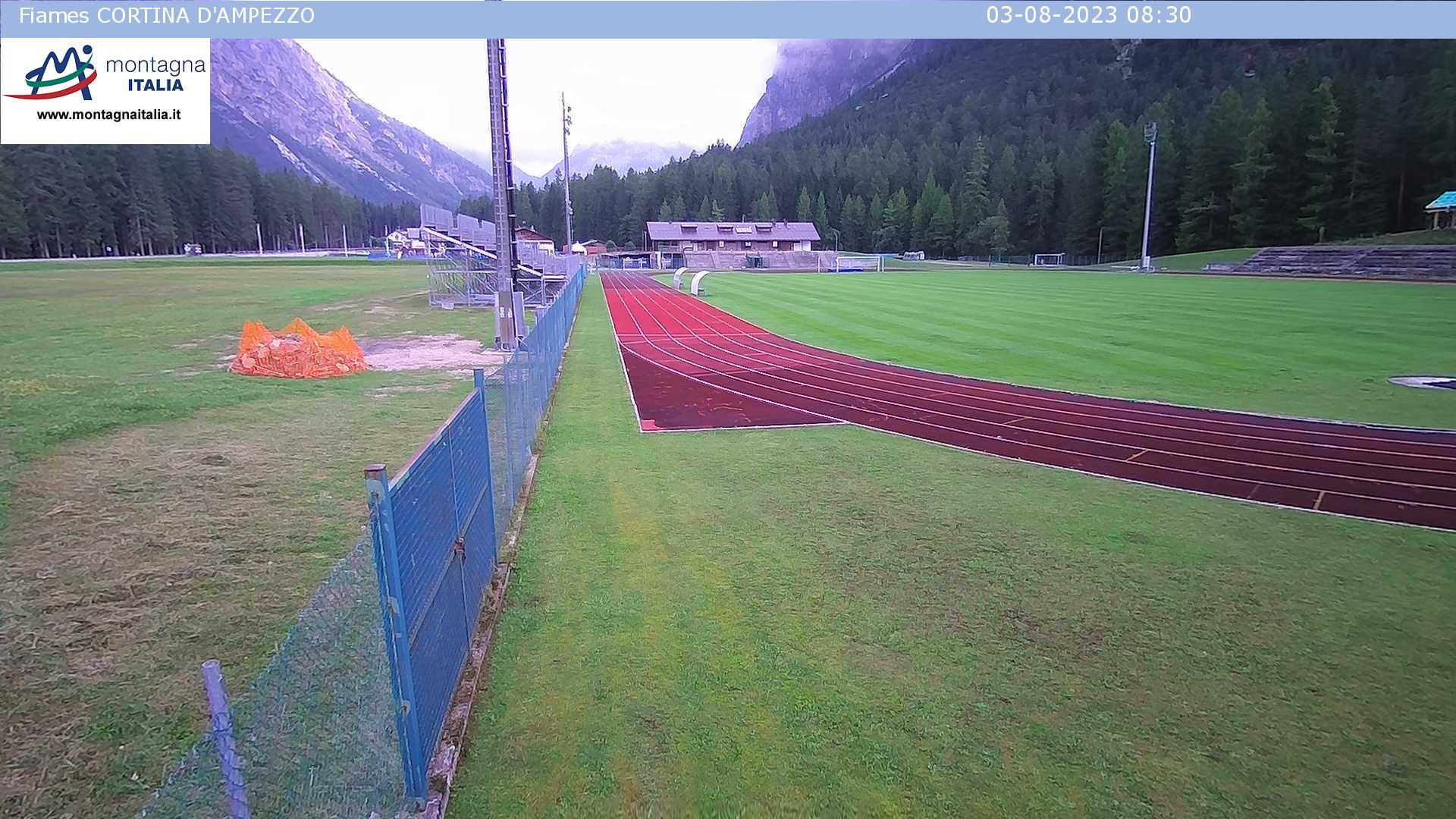 Dallo stadio di Fiames, tratto sci nordico