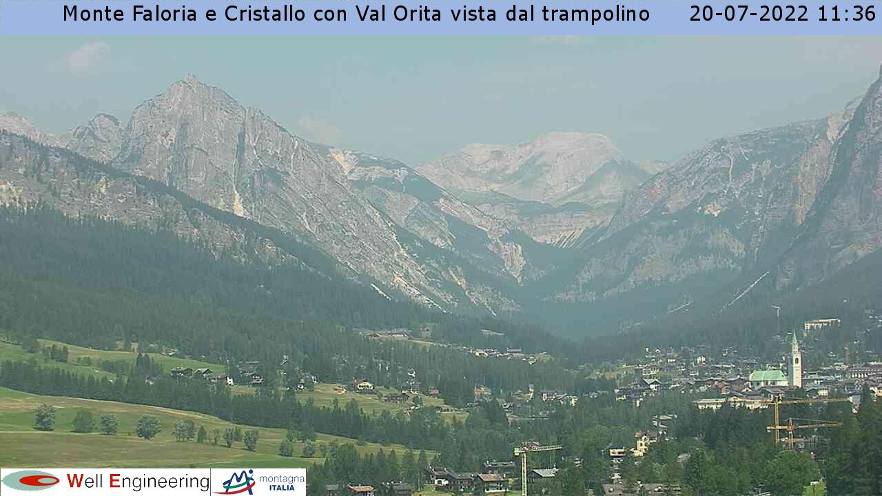 Vista Monte Faloria e Cristallo dal trampolino